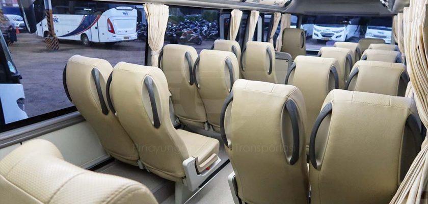 foto interior bus pariwisata Trac dari saungbus.com jakarta